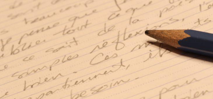 Prochaine séance d'atelier d'écriture