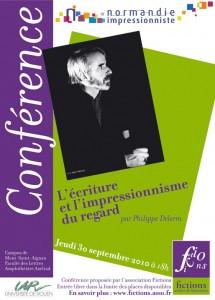association Fictions: conférence avec Philippe Delerm