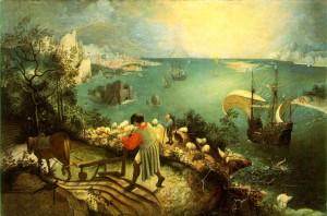 Brueghel, La chute d'Icare